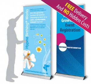 exhibition printing northampton including Banner stands, pop up banners, pop up graphic wraps, graphic board signage and PVC banners