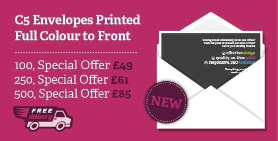 Envelope printing Northampton special offer